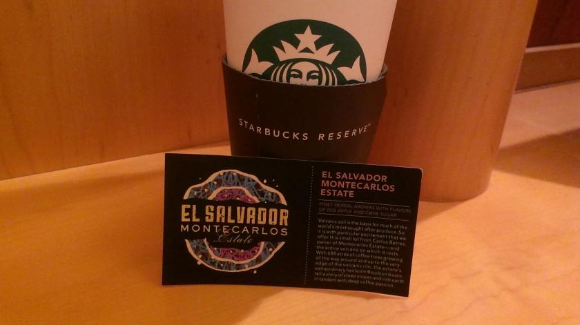 Starbucks Reserve - El Salvador Montecarlos Estate