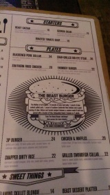 View of some items on the menu