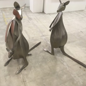 Pair of Wallaby (metal sculpture)