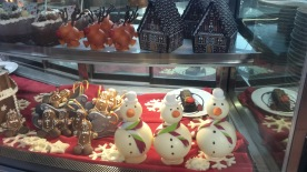 Festive food theme items on display