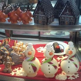 Festive food theme items on display