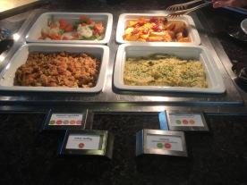 Various American Feast Food items