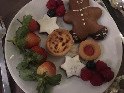 Various dessert items