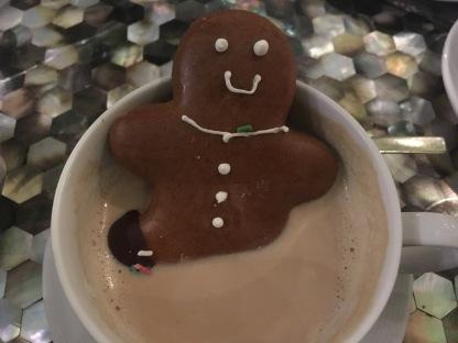 Gingerbread man in Latte