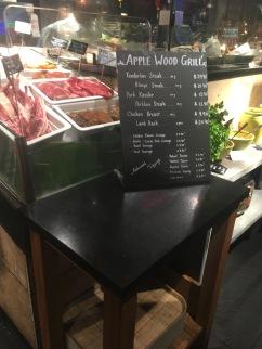 Food items on Applewood Grill