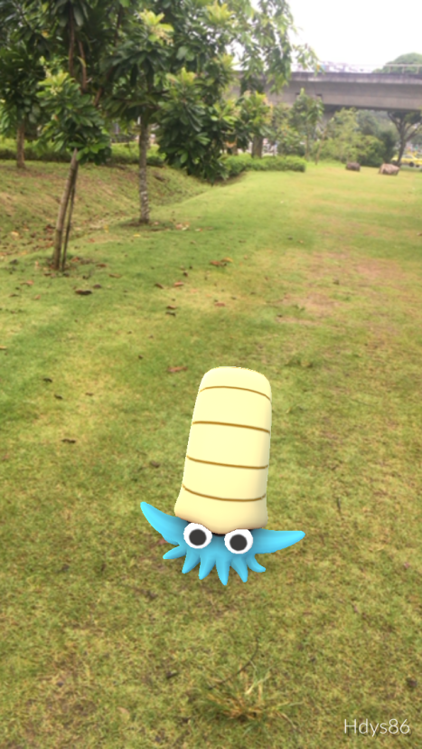 Omanyte from Pokemon Go