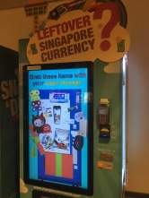 Changi Airport - Leftover Currency Machine