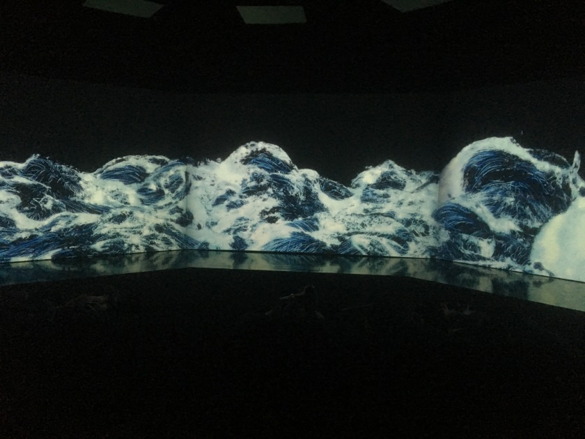 Black Waves by teamLab (2016)