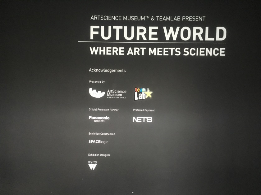 Future World (2017) @ ArtScience Museum, Marina Bay Sands Singapore