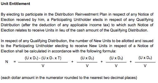 REIT Entitlement calculation