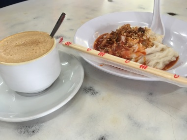 Old Town White Coffee with Chee Cheong Fun
