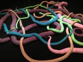 Snake in pop art