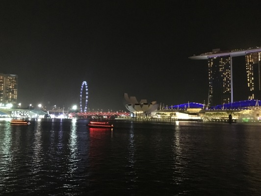 View of ArtZoo and Marina Bay Sands from One Fullerton